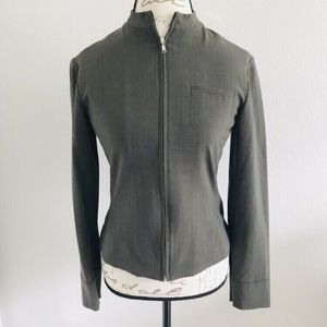 Guess Collection Taupe Blazer Mesh Lining Sz 6